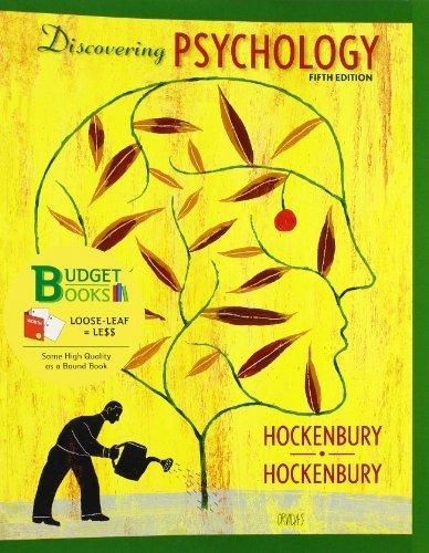 Discovering Psychology (Loose Leaf) by Don H. Hockenbury (2010-01-22)