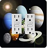 Rikki Knight 50 Gfidouble Solar System Planets Design Light Switch Plate