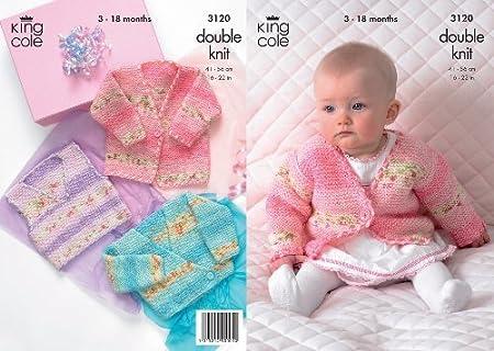 King Cole Double Knitting Pattern Babies Splash Dk Knitted Jackets
