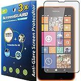 GuarmorShield 3x Nokia Lumia 630 635 Premium Anti-Glare Anti-Fingerprint Matte Finishing LCD Screen Protector Cover Kit (Package by GUARMOR)