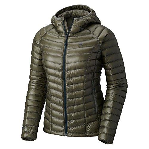 Mountain Hardwear Womens Ghost Whisperer Insulated Down Water Repellant Jacket with Hood - Green Fade - XL - Mountain Hardwear Nylon Sweater