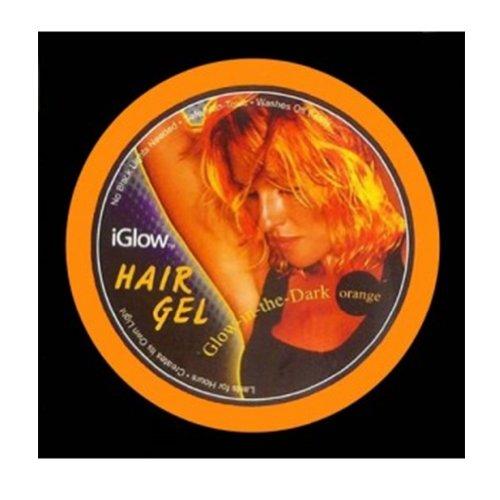 Iglow Temporary Glow in the Dark Hair Gel (Iglow Orange)