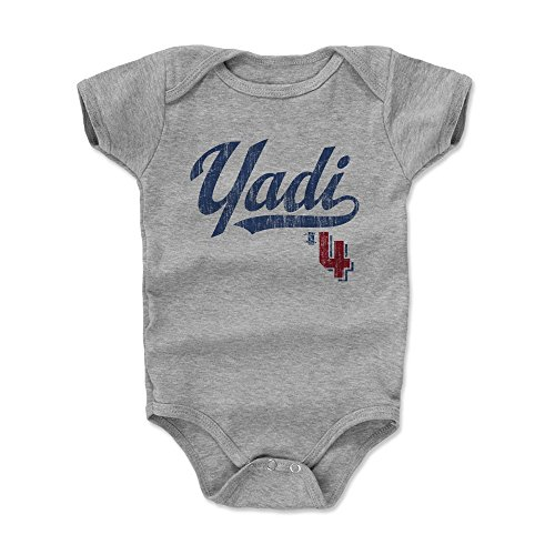 - 500 LEVEL Yadier Molina Baby Clothes, Onesie, Creeper, Bodysuit 3-6 Months Heather Gray - St. Louis Baseball Baby Clothes - Yadier Molina Players Weekend B