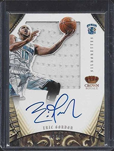 Eric Gordon Signed Jersey - 2012 13 Panini Preferred Silh...