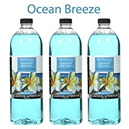 Hosley\'s Premium Grade 34 oz Ocean Breeze Liquid Potpourri for Aromatherapy- Case of 3