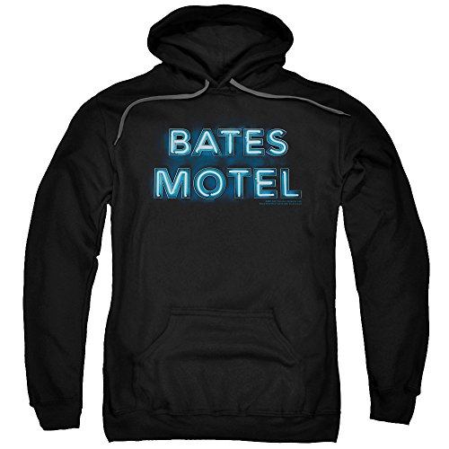 UPC 852688315255, Bates Motel A&E Thriller Hitchcock TV Series Sign Logo Adult Pull-Over Hoodie