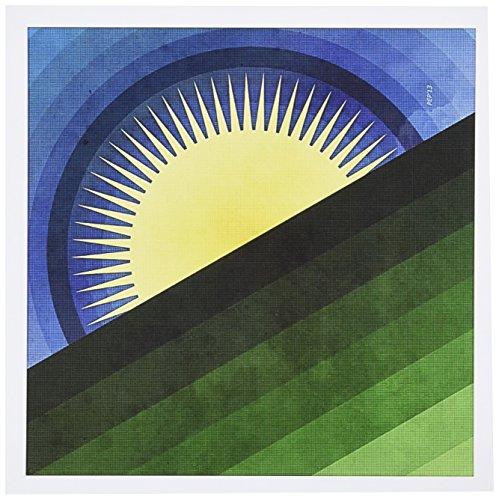 3dRose Good Morning Sunshine - Design of Sun Rising - Greeting Cards, 6 x 6