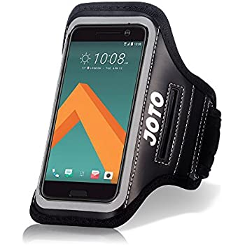 HTC 10 Sport Exercise Armband, JOTO Sport Protective Armband Case, with Key Holder, Credit Card / Money Holder, Sweat Proof, Best for Gym, Running , Exercise , Workout(Black)
