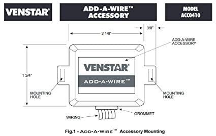 Venstar ACC0410 Add-A-Wire Accessory for All 24 VAC Thermostats (4 on