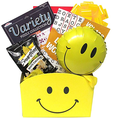 Smile Now Get Well Gift for Men and Women with Puzzle Books is a Fun Alternative to Flower Bouquets and Comes Wrapped and Ready to Give by Gifts Fulfilled
