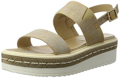 Peperosa 924 - Sandalias con Cuña Mujer Gold (Oro)