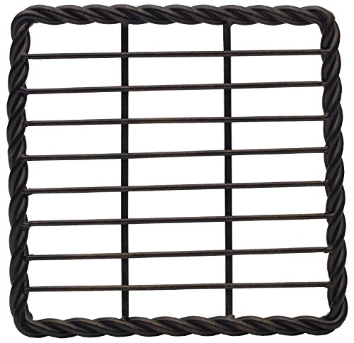 Gourmet Basics by Mikasa 5207455 Rope Square Trivet, 7-Inch, Antique Black