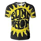 XINSHOU Blind Melon Logo Men's 3D All Print Short Sleeve Tshirt L