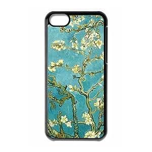 Vintage Flower Watercolor Custom Cover Case for Iphone 5C,diy phone case ygtg586716