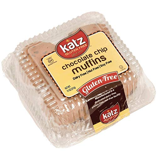 Katz Gluten Free Chocolate Chip Muffins | Dairy, Nut, Soy and Gluten Free | Kosher (1 Pack of 4 Muffins, 11 Ounce)