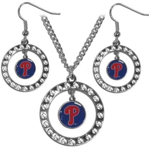 MLB Philadelphia Phillies Rhinestone Jewelry Set -