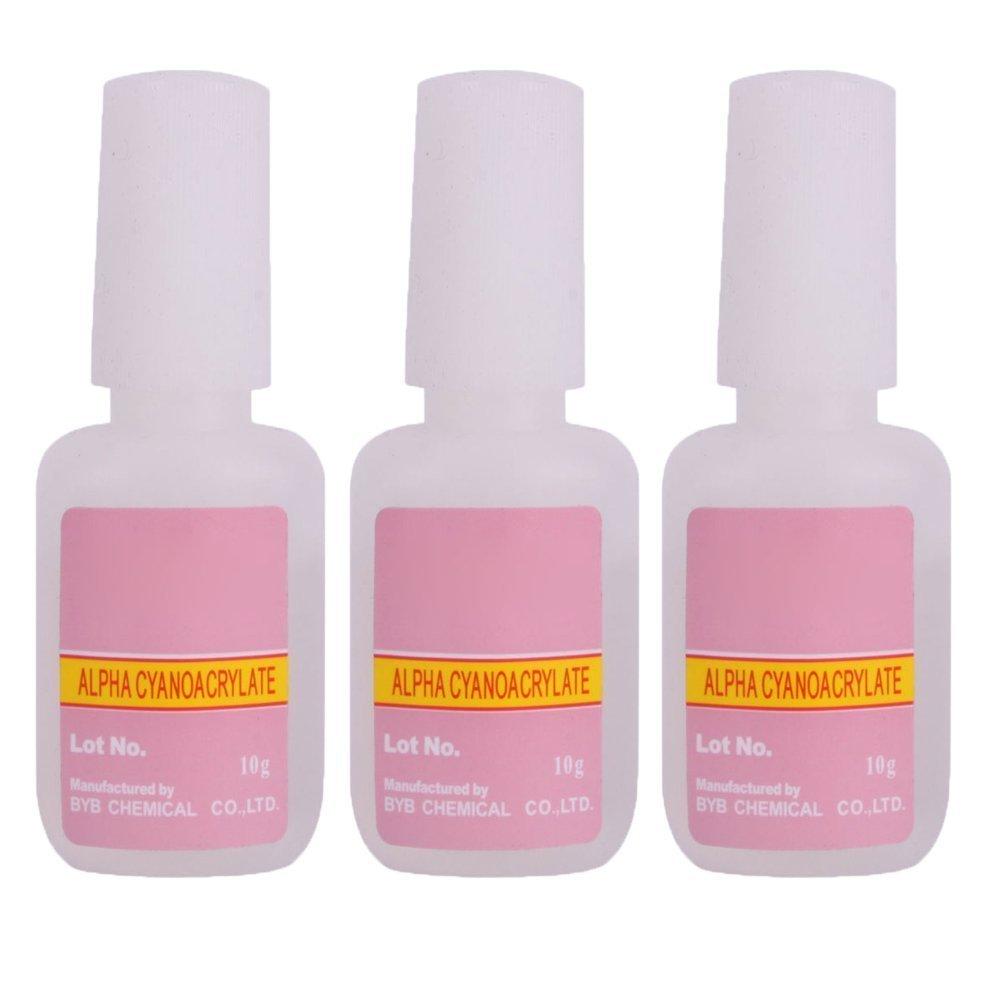 LIFECART 3 Bottles 10gBottle Nail Art False Tips Acrylic Glitter Glue