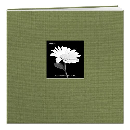 Pioneer 12-Inch by 12-Inch Fabric Frame Scrapbook, Herbal...