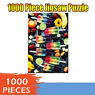 GDJGTA Classic Multicolor Popsicles Jigsaw Puzzle 1000 Piece Adult Children Puzzle DIY Painting Puzzle Home Decor Gift: Toys & Games