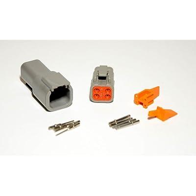 Deutsch DTM 4-pin Connector Kit with 20 Gauge Solid Terminals: Automotive