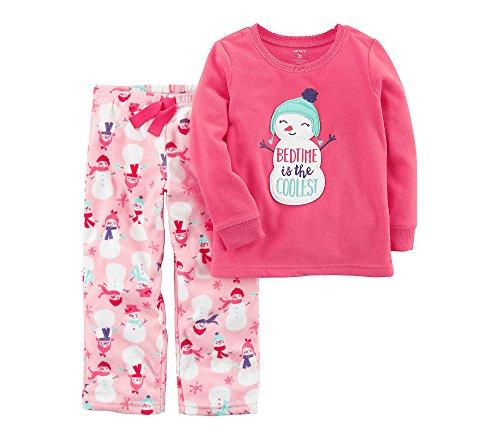 Girls Pink Snowman - 1