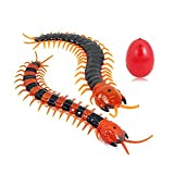 Giveme5 Infrared RC Centipede, Remote Control USB Infrared RC Centipede Tricky Simulation Scary Fake Centipede Toy Halloween Ornaments Props for Kids and Adults