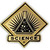 PinMart Black and Gold Science Student School Teacher Lapel Pin