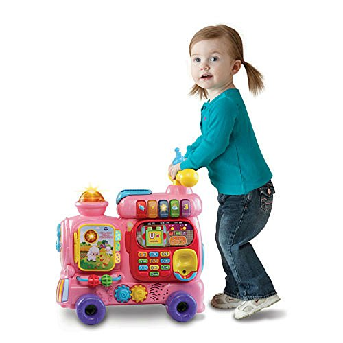 VTech Sit-to-Stand Ultimate Alphabet Train, Pink by VTech (Image #3)