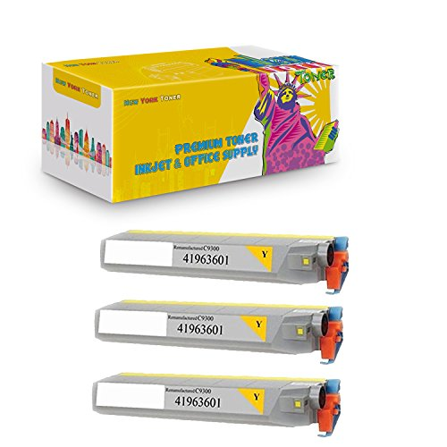 C9500 Yellow Toner (New York TonerTM New Okidata 3 Pack Okidata 41963601 High Yield Toner For OKI : C9300 | C9500dxn | C9500. --Yellow)