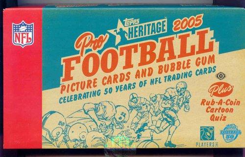 2005 Topps Heritage Football Cards Hobby Box (24 packs/box)