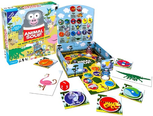Animal Game Soup - Haywire Group Animal Soup Mixed-Up Animal Board Game