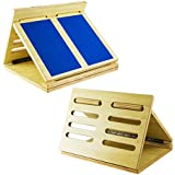 Houseables Calf Stretcher Board, Ankle Foot Stretch Exercise, Wooden, 18 x 15 x 2 Inch, Incline Slant for Stretching, Adjustable Leg Raise, Achilles Tendon Physical Therapy, Balance Muscle Training