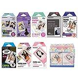 Fujifilm Instax Mini 8 Films Set, Mono Chrome, 7 Various Style (Total 80), Original Gift Box