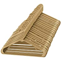 Sharpty Beige Plastic Hangers, Plastic Clothes Hangers, Clothing Hangers, Durable and Slim Hangers (60 Pack)