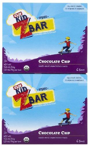 Clif Kid Z Bar, Chocolate Chip, 6 ct, 2 pk - Kid Z-bar Chocolate