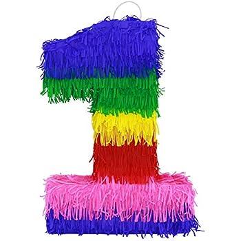 Amazon.com: Lutema - Piñata de papel colorido número 1 (una ...