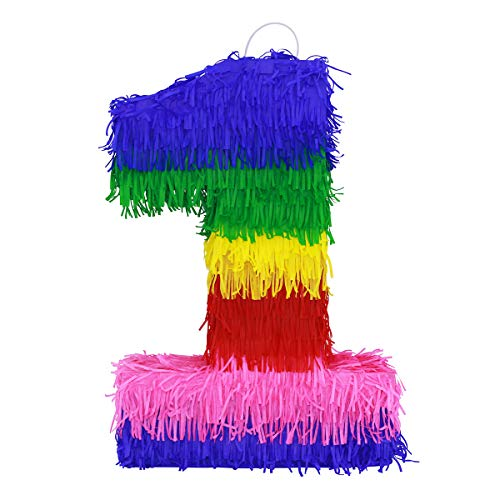 Lytio 3D Number One Pinata Vibrant Colored Paper (Piñata 1) Great for Any Birthday or Anniversary Party, Décor, Photo Prop, Center Piece]()