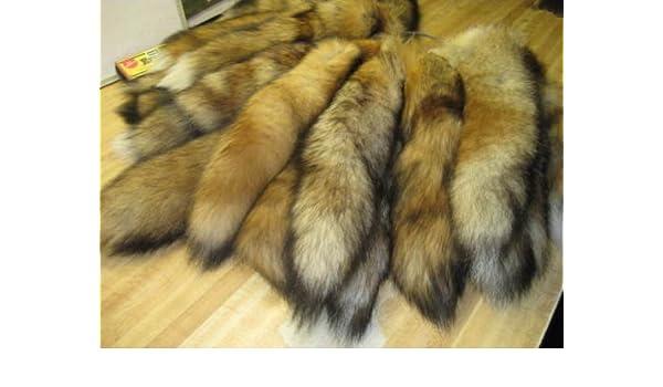 Curtido abrigos de piel de zorro rojo Tails atrapa el pelo (una cola): Amazon.es: Juguetes y juegos