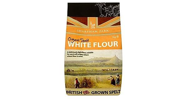 Sharpham Aparcar Harina De Espelta Blanca Orgánica (1Kg) (Paquete de 2): Amazon.es: Alimentación y bebidas
