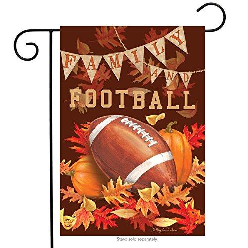 Family & Football Fall Garden Flag Autumn Sports Game Day 12.5 x 18
