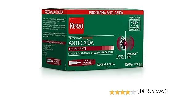 Kerzo Tratamiento Intensivo Anticaída en Ampollas - 14 Unidades ...