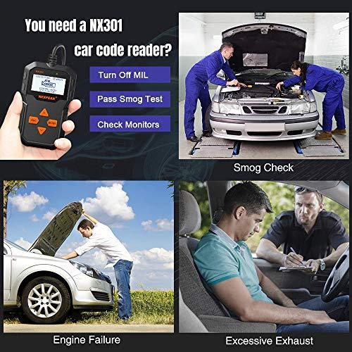 NEXPEAK Obd2 Scanner, NX301 Code Reader, Portable Car Diagnostic Scanner, Engine False Code Scan Tool for Most Vehicles Since 1996