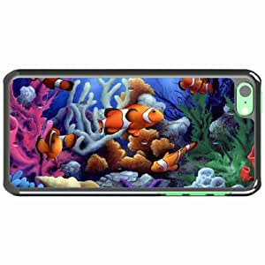 Customized Apple iPhone 5C PC Hard Case Diy Personalized DesignCover fish Corals shell starfish underwater White