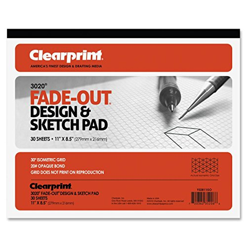 chartpak-isometric-grid-paper-30-sheet-20lb-quad-ruled-letter-85-x-11-1-pad-white-media