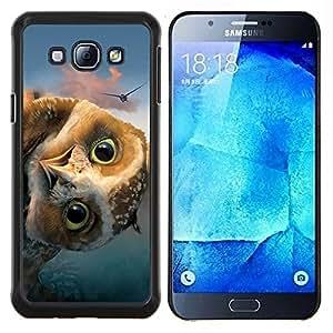 Caucho caso de Shell duro de la cubierta de accesorios de protección BY RAYDREAMMM - Samsung Galaxy A8 A8000 - DIVERTIDO FRIENDLY OWL