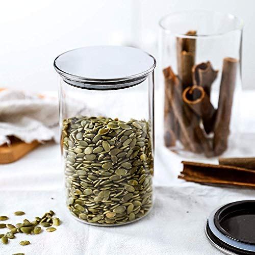 PrimeWorld Glass Food Storage Jar with Lid   1000 ml, Clear
