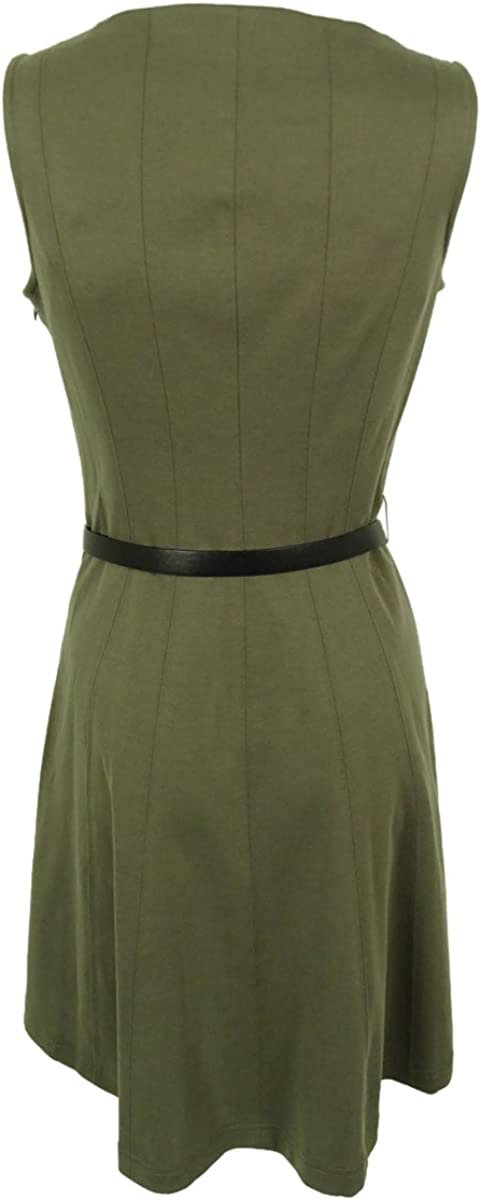 Womens Sleeveless Belted Dress Style /& Co