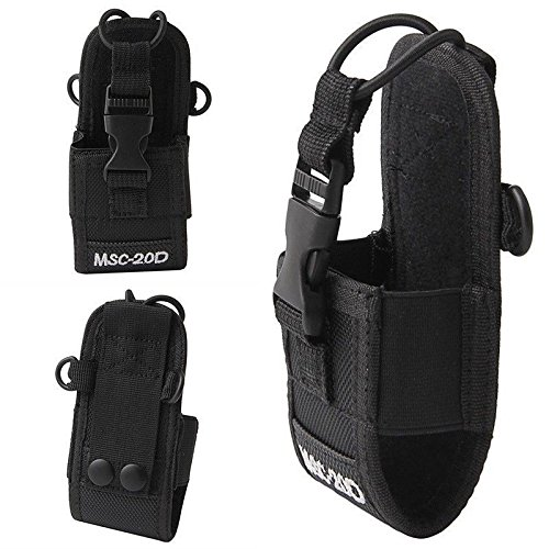 ([WALLER PAA] For Baofeng Motorola Kenwood Radio Portable Nylon Pouch Holster Bag Case MSC-20D)