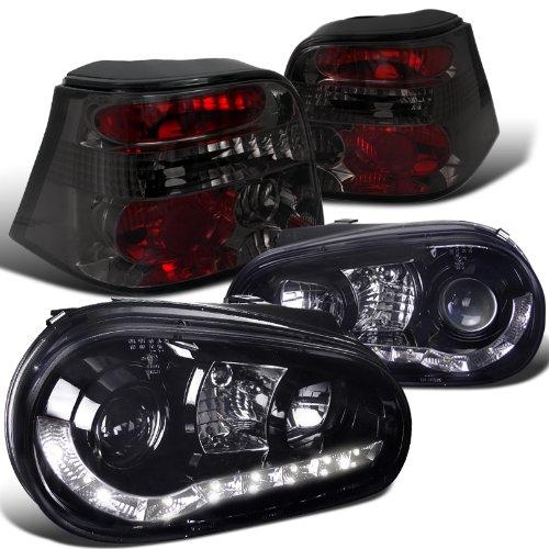 Glossy Black Projector Headlights Smoke