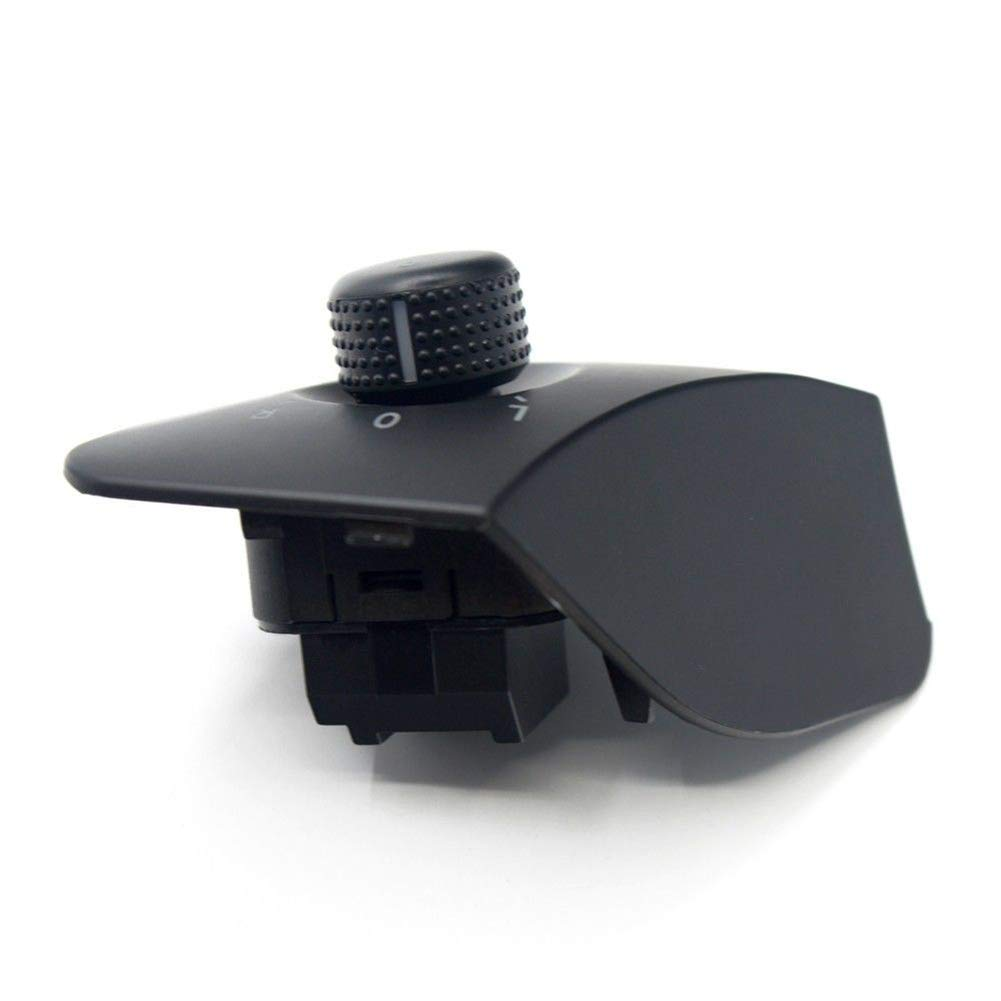 kaakaeu 6J1 959 565 Pomo para Espejo retrovisor Lateral de Coche para Seat Ibiza 2009
